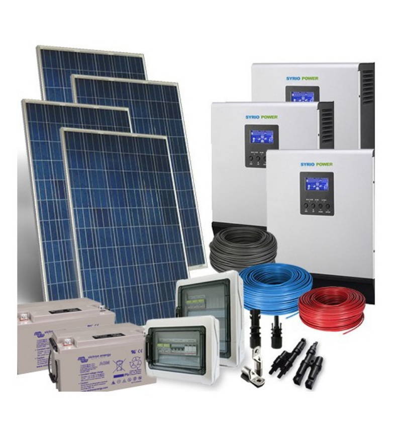 Kit-Solare-Trifase-TR-PLUS-4.3kW-48V-Inverter-5000W-Batterie-AGM-220Ah